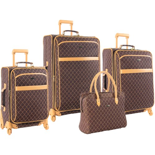 Stylish Pierre Cardin Signature Spinner Four Piece Luggage Set ...